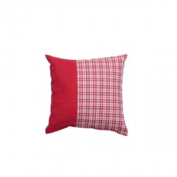 Cuscino con imbottitura di fiocchi di cirmolo. Mis. 20x20 cm