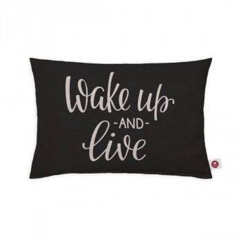 "Cuscino aromatizzato ""wake up and live"" 30x20"