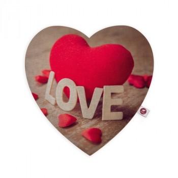 """Cuscino aromatizzato motivo cuore """"Love"""" 28x26"""