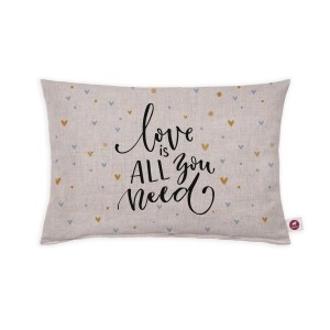 "Cuscino aromatizzato ""love is all you need"" 30x20"