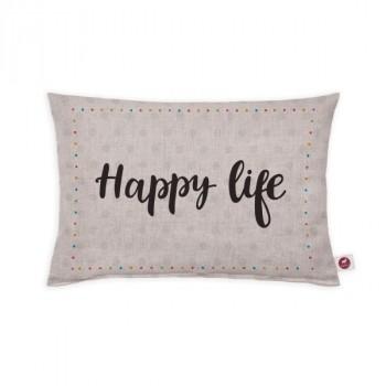 """Cuscino aromatizzato """"happy life"""" 30x20"""