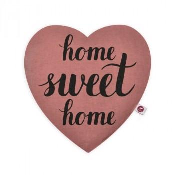 """Cuscino aromatizzato motivo cuore """"Sweet Home"""" 28x26"""