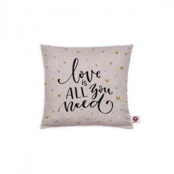 "Cuscino aromatizzato ""love is all you need"" 20x20"