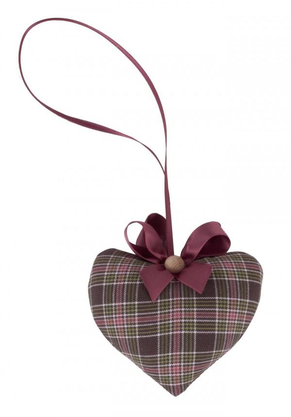 Cuscino profumato forma cuore con cirmolo 10x9