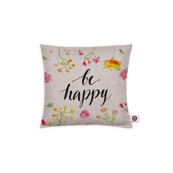 "Cuscino aromatizzato ""be happy"" 20x20"