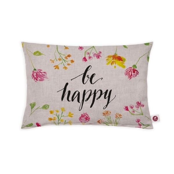 """Cuscino aromatizzato """"be happy"""" 30x20"""