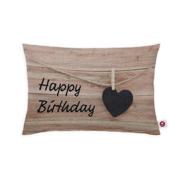 """Cuscino aromatizzato """"buon compleanno"""" 30x20"""