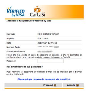 3D secure Carta SI