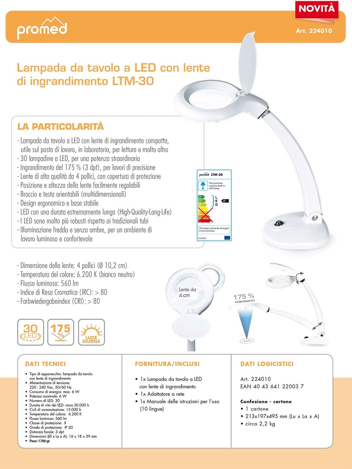 lampada LTM-30 Promed