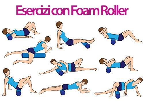 esercizi con foam roller